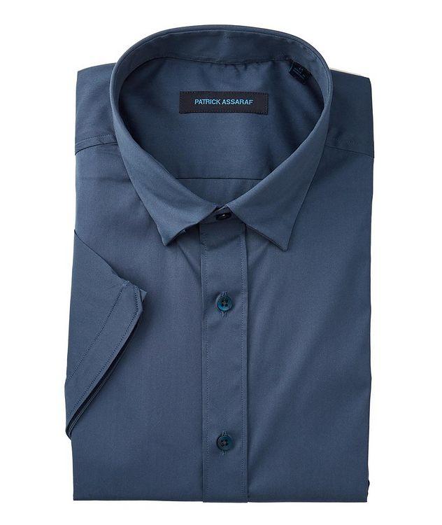 Short-Sleeve Stretch-Cotton-Blend Shirt picture 1