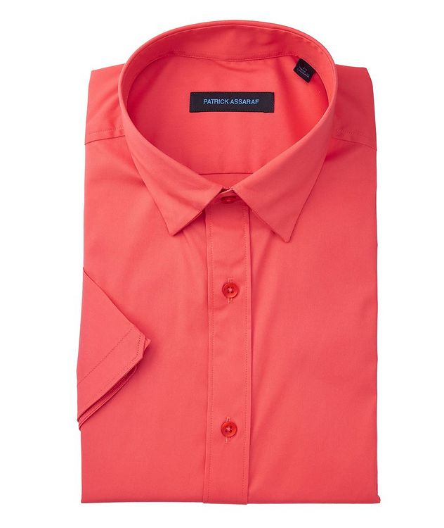 Short-Sleeve Stretch-Cotton-Blend Shirt picture 1