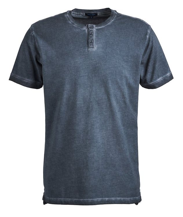 Stretch-Cotton Henley picture 1