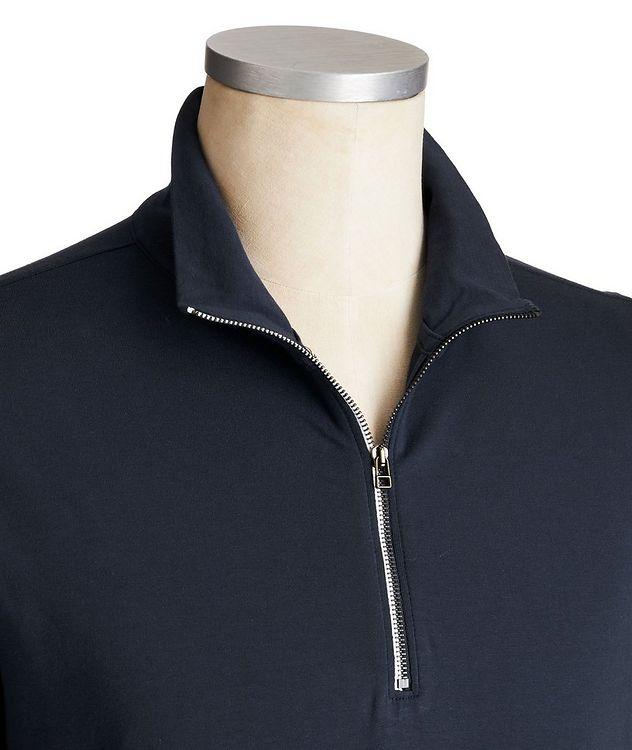 Half-Zip Long-Sleeve T-Shirt picture 2