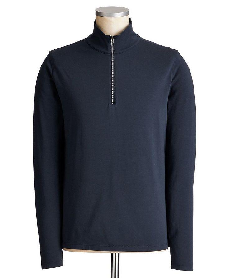 Half-Zip Long-Sleeve T-Shirt image 0