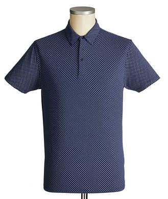 Patrick Assaraf Printed Stretch-Cotton Polo