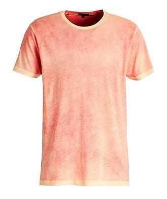 Patrick Assaraf T-shirt en coton pima teint par nouage