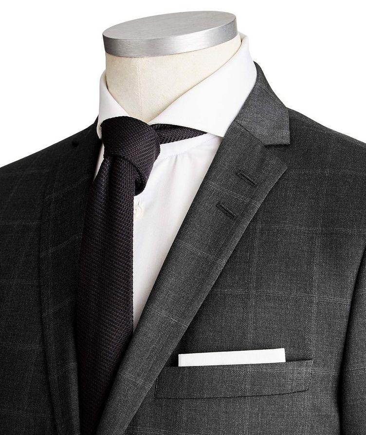 Jile Slim Fit Windowpane Wool Suit image 1