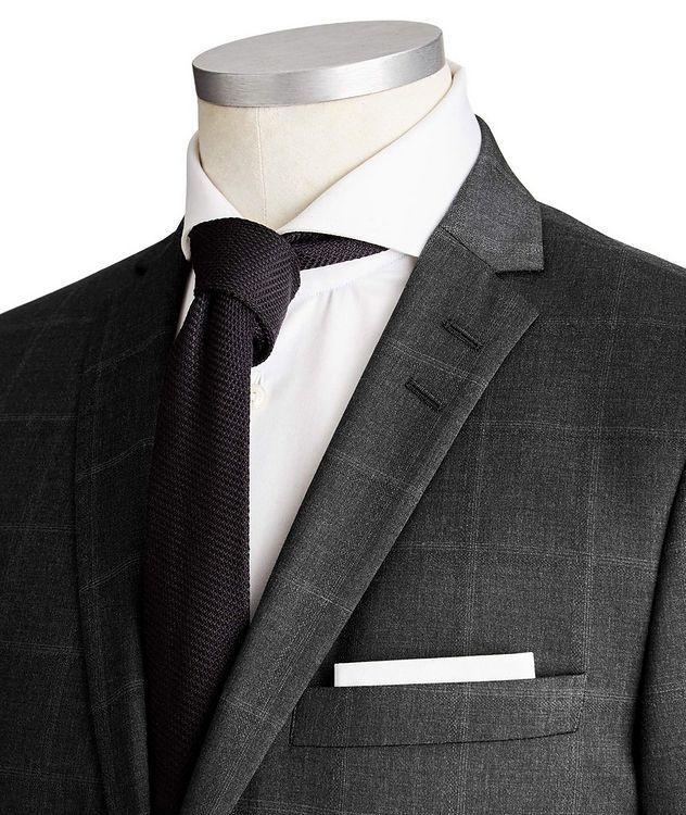 Jile Slim Fit Windowpane Wool Suit picture 2