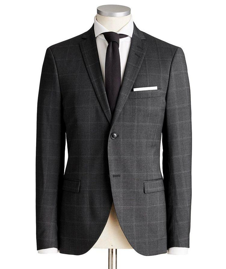Jile Slim Fit Windowpane Wool Suit image 0