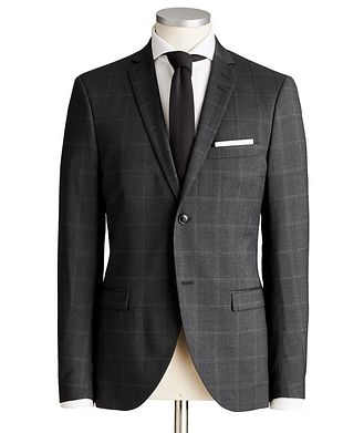 Tiger of Sweden Jile Slim Fit Windowpane Wool Suit