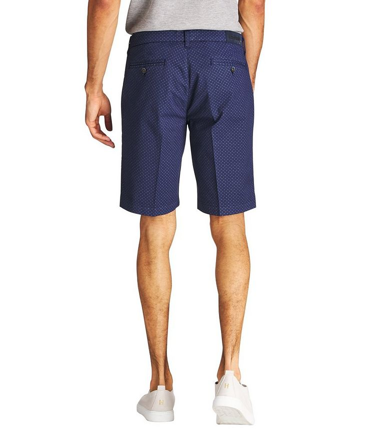 Printed Stretch-Cotton Shorts image 1