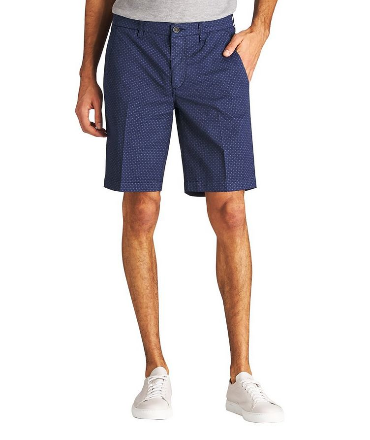 Printed Stretch-Cotton Shorts image 0