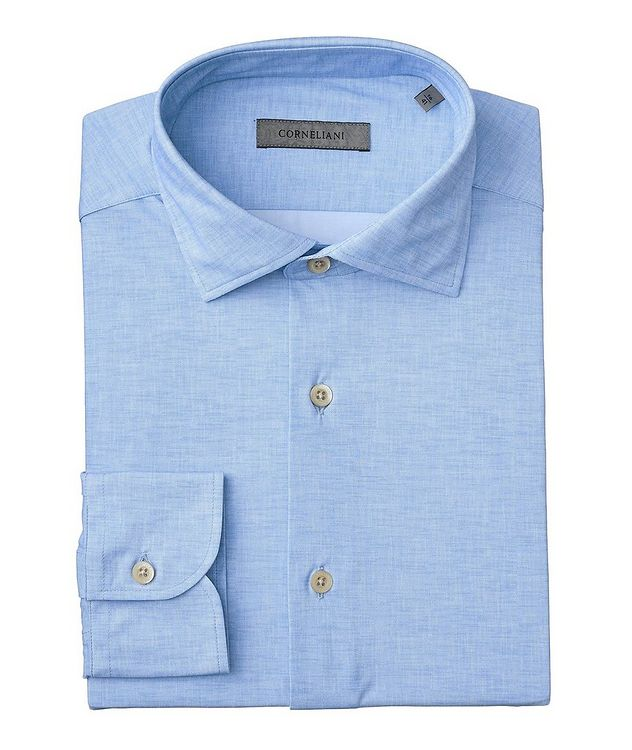 Crosshatched Stretch-Blend Shirt picture 1