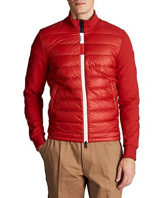 Moncler Zip-Up Quilted Cardigan
