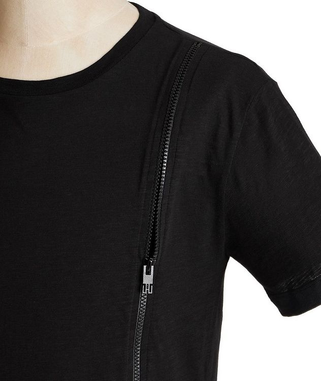 Zippered Cotton T-Shirt picture 2
