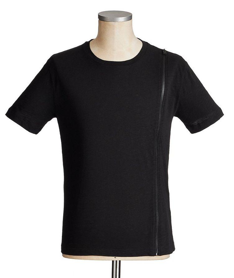 Zippered Cotton T-Shirt image 0