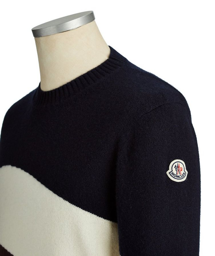 Striped Wool-Cashmere Sweater image 2