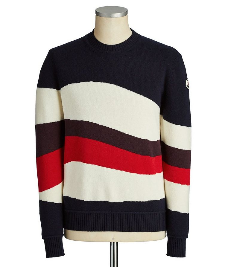 Striped Wool-Cashmere Sweater image 0