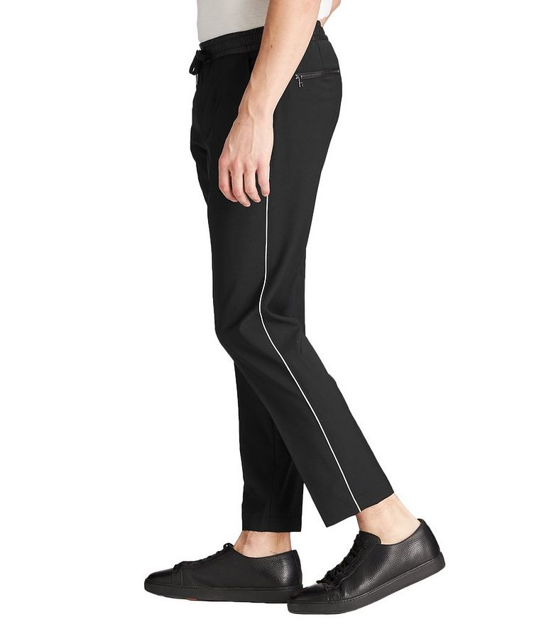 Drawstring Stretch-Wool Trousers image 1
