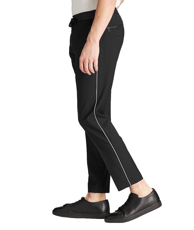 Drawstring Stretch-Wool Trousers picture 2