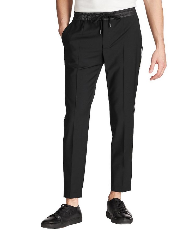 Drawstring Stretch-Wool Trousers image 0
