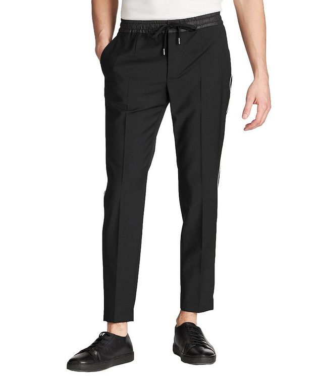 Drawstring Stretch-Wool Trousers picture 1