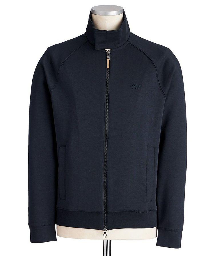 Cotton-Silk Blend Track Jacket image 0