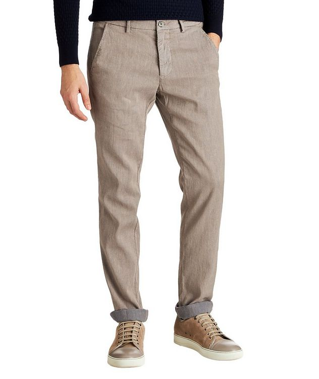 Stretch Linen-Cotton Chinos picture 1