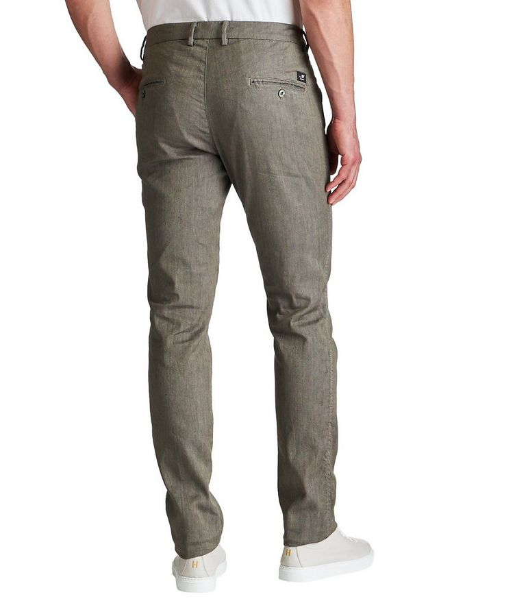 Stretch Linen-Cotton Chinos image 1