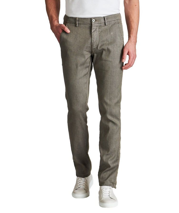Stretch Linen-Cotton Chinos image 0