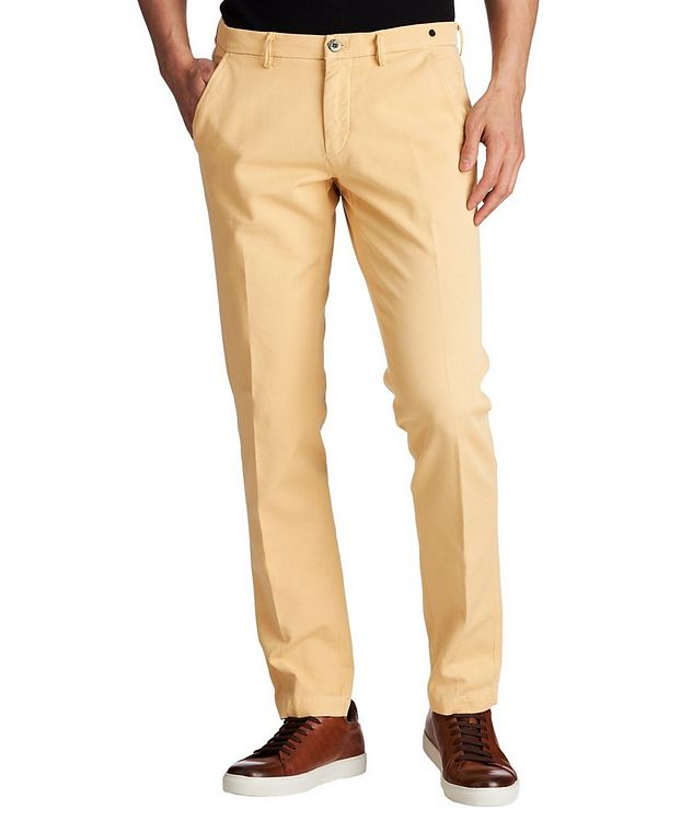 Slim Fit Stretch-Cotton Chinos picture 1