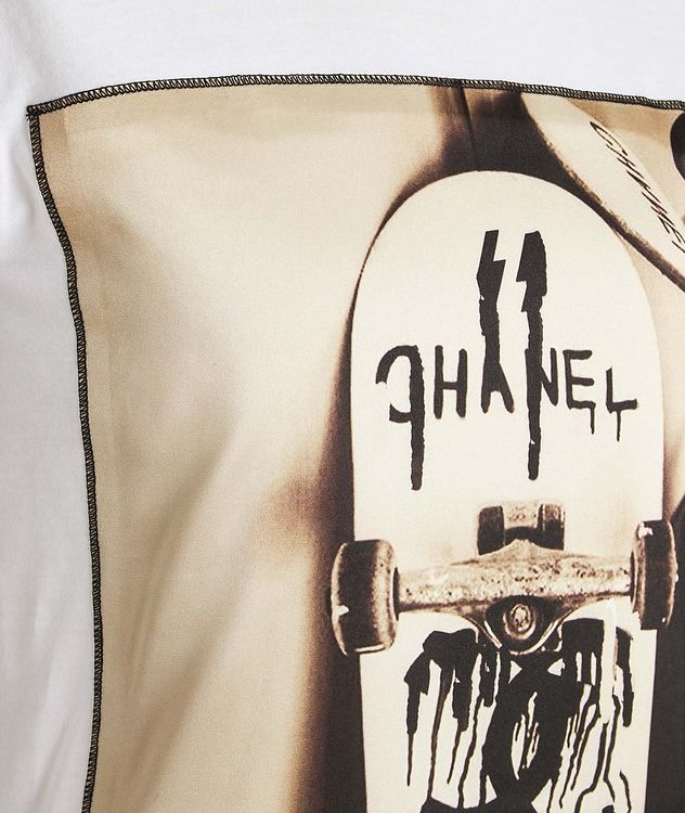Skateboard Printed Cotton T-Shirt picture 2