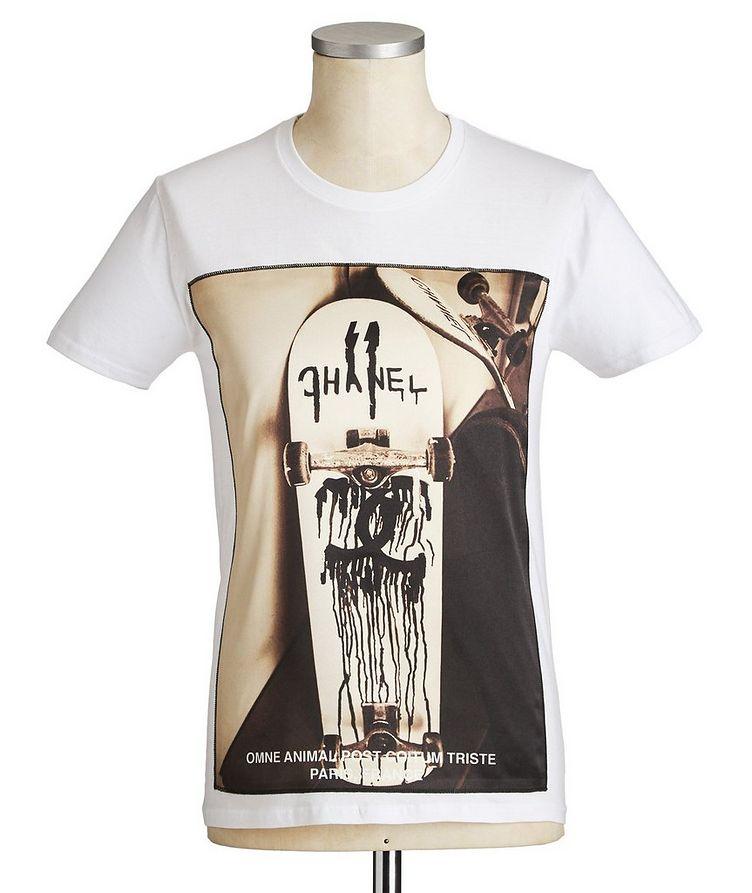 Skateboard Printed Cotton T-Shirt image 0