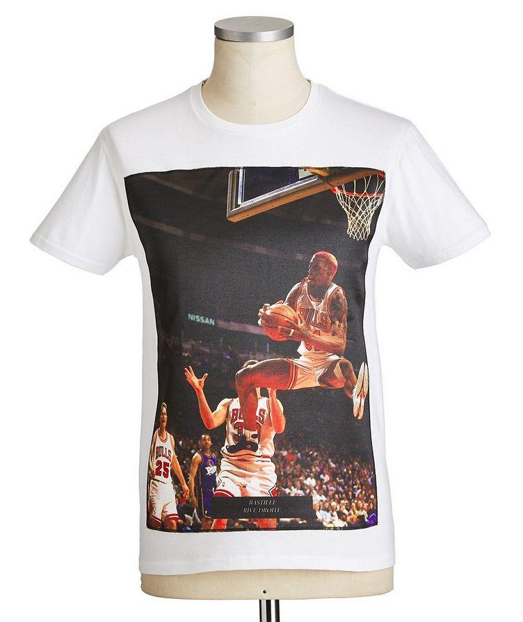 Dennis Rodman Jump Printed Cotton T-Shirt image 0