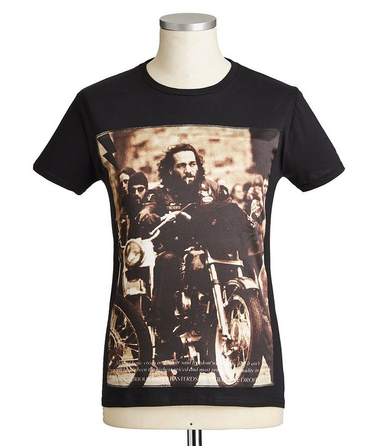 Motorcycle club Printed Cotton T-Shirt image 0