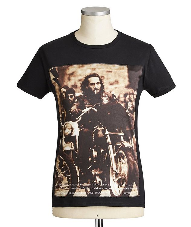 Motorcycle club Printed Cotton T-Shirt picture 1