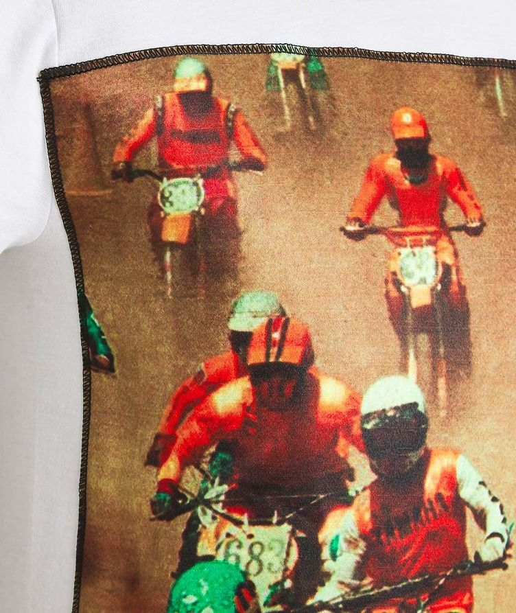 Moto Racing Printed Cotton T-Shirt image 1