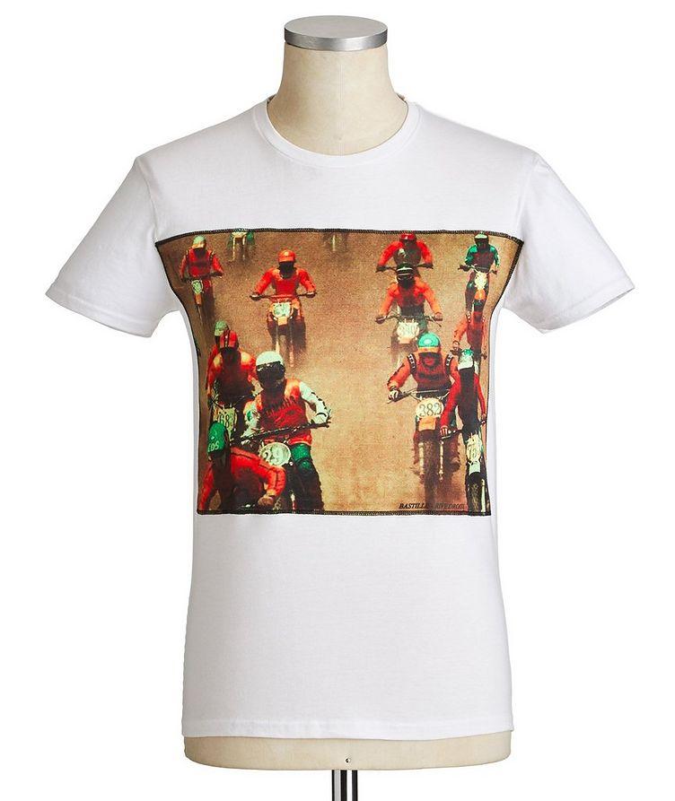 Moto Racing Printed Cotton T-Shirt image 0
