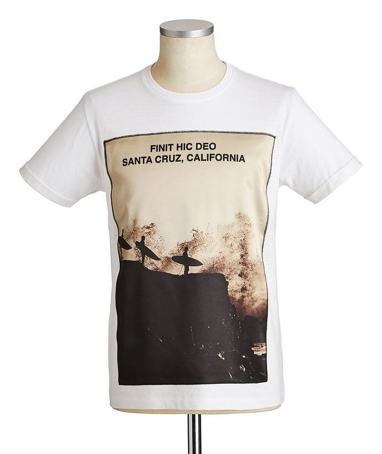 Surfers Printed Cotton T-Shirt image 0