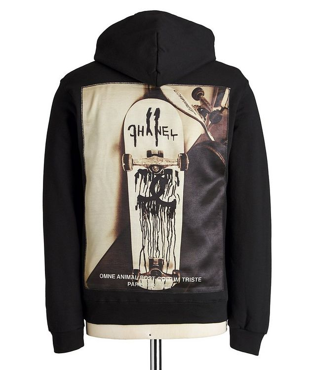 From Paris With Love Silk-printed Cotton Hoodie picture 2
