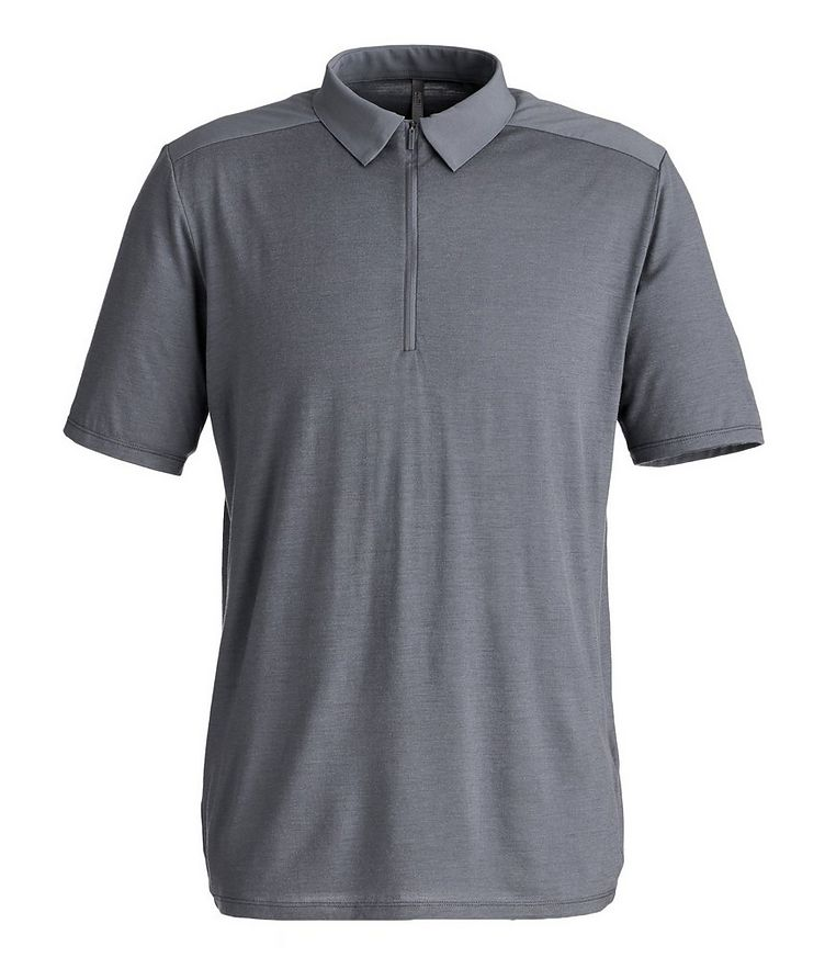 Half-Zip Wool Polo image 0
