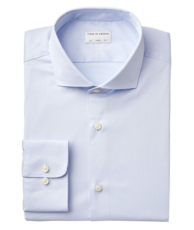Farrell Slim Fit Stretch-Cotton Dress Shirt image 0
