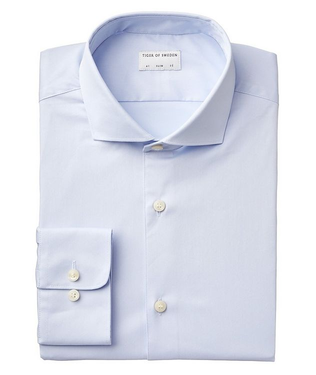 Farrell Slim Fit Stretch-Cotton Dress Shirt picture 1