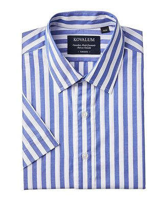 Kovalum Short-Sleeve Striped Shirt