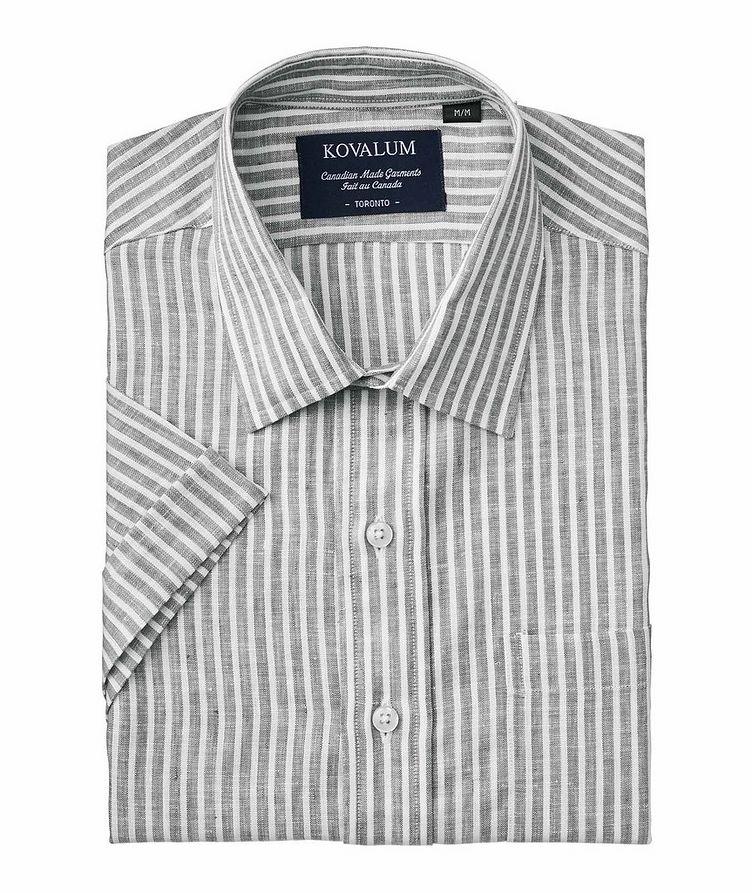 Short-Sleeve Striped Linen Shirt image 0