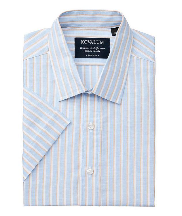 Short-Sleeve Striped Linen Shirt picture 1