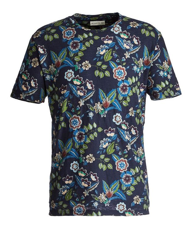 Botanical-Printed Cotton T-Shirt picture 1