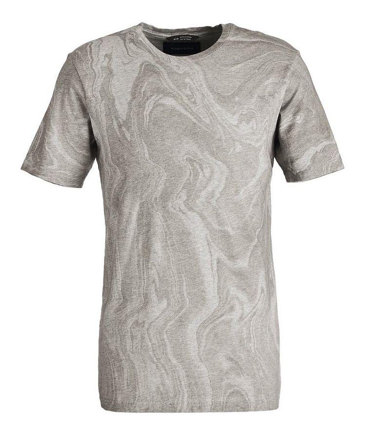 T-shirt imprimé en coton pima image 0