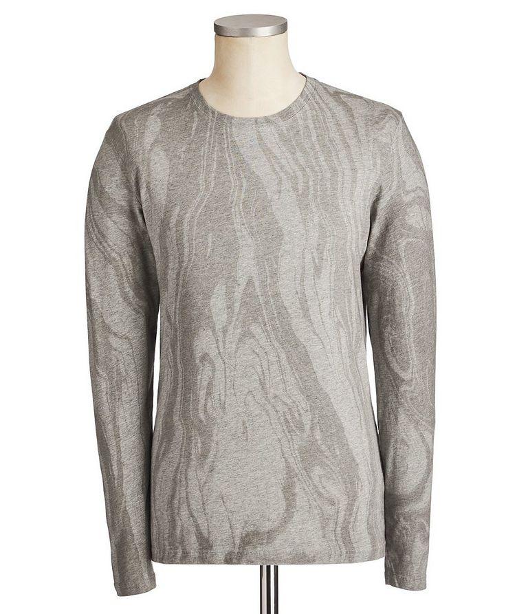 Printed Pima Long-Sleeve Cotton T-Shirt image 0