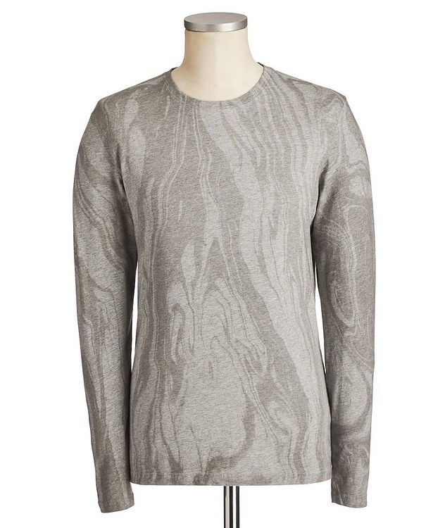 Printed Pima Long-Sleeve Cotton T-Shirt picture 1