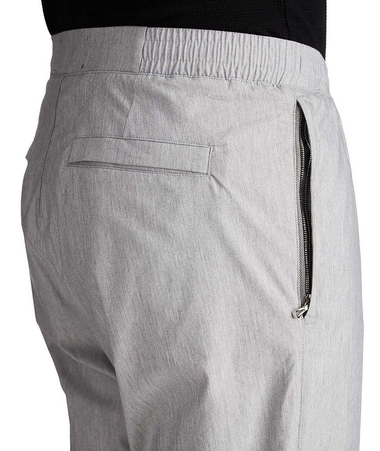 Cotton Blend Drawstring Pants image 2