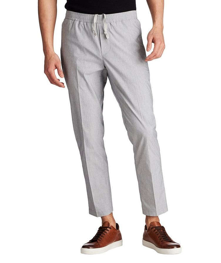 Cotton Blend Drawstring Pants image 0