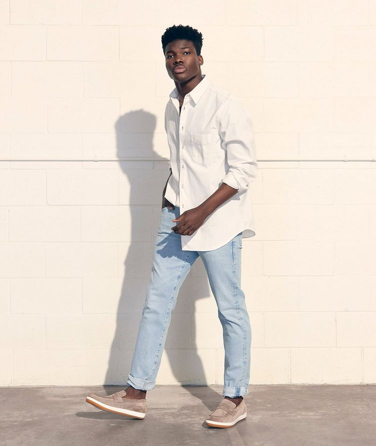 The Everett Slim Straight Stretch-Denim Jeans image 1